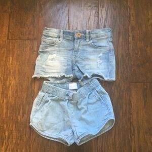 2 pair of jean shorts H&M and ch. place